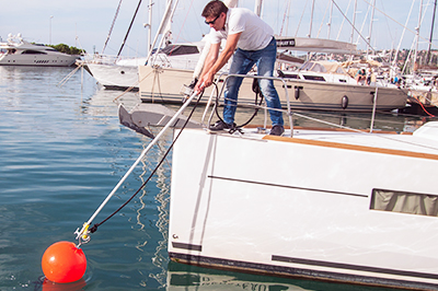 HOOKLINKER - Multipurpose boat hook for mooring & docking